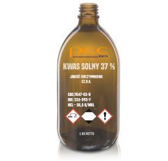 Kwas solny 37 % cz.d.a. butelka 1 kg
